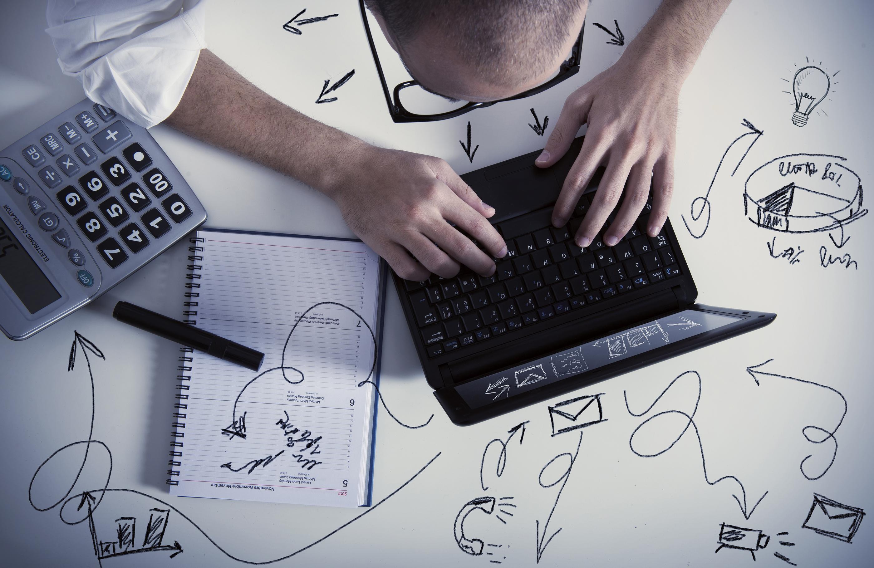 bigstock Multitasking Businessman At W 43237039